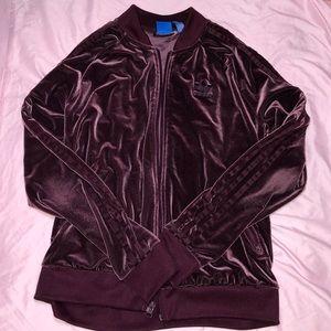 Adidas Dark Purple Velvet Jacket